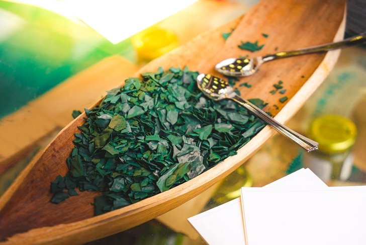 spirulina algae - spirulina is a superfood used as a food supplement source of vitamin protein and beta carotene